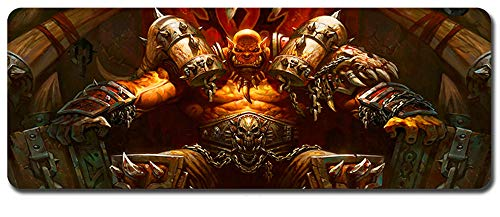 Mouse Pad,Professional Large Gaming Mouse Pad, World of Warcraft Mouse Pad,Extended Size Desk Mat Non-Slip Rubber Mouse Mat (12, 800 x 300 x3 mm / 31.5 x 11.8 x 0.12 inch)