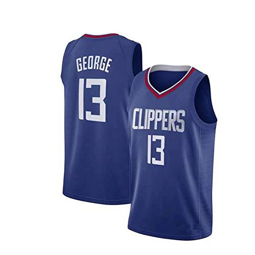ZRHZB Los Angeles Clippers #13 Paul George Camiseta de Baloncesto Hombre Jersey Uniforme Malla Chaleco de la Camisa para niños Adolescentes Estudiantes(Tamaño: S-XXL),C,S