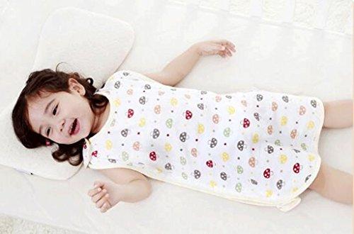 fzw Baby slaapzakken lente en zomer dunne deel van katoen pasgeboren kinderen benen anti-kick quilt (Maat: S)