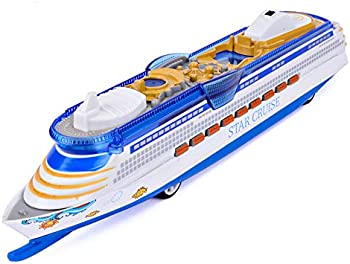 Corper Toy Die Cast Metal Cruise Ship with Flashing LED Lights and Sounds