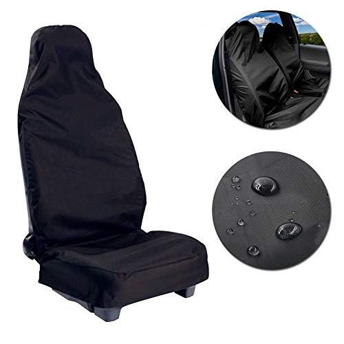 Voarge Schonbezug Autositz Universal, Vordere Autositzbezug wasserfest, PKW/KFZ Sitzschoner, Mit Aufbewahrungstasche, 132 X 54cm
