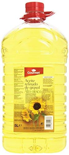 Gourmet Aceite Refinado de Girasol Alto Oleico, 5L