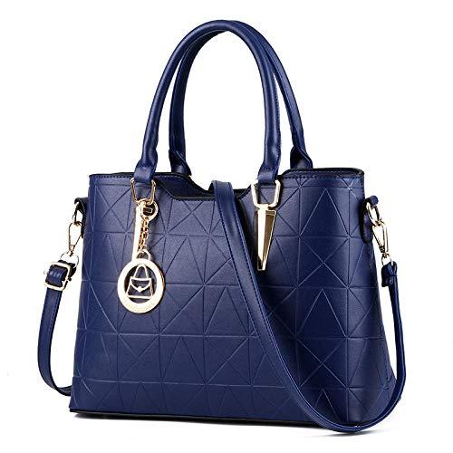 BebiBolso diagonal de un solo hombro casual de gran capacidad de nuevo bolso de moda-azul marino