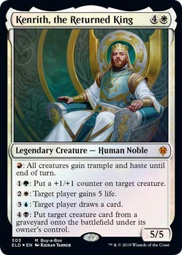 Magic: The Gathering - Kenrith, The Returned King - Collector Pack Exclusive - Throne of Eldraine