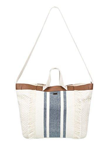 Roxy Bahamas Lov Stoff- und Strandtasche, 47 cm, Marshmallow Solid Weiß