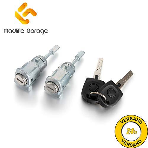 2 x Madlife Garage 604837167 Schliesszylinder Türschloss mit Schlüssel Links Rechts Fabia I 6Y2 6Y5