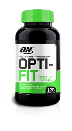 Optimum Nutrition Opti-fit Thermogenic Fat Burner for Men and Women, 200mg of Caffeine, Metabolism and Weight Loss Support Pills, 120 Count