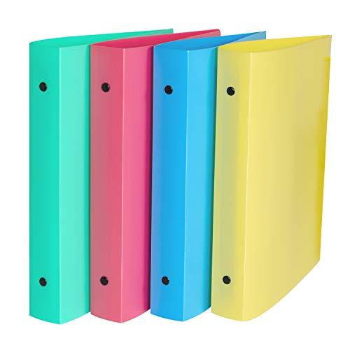 C-Line 3-Ring-Poly-Ordner mit Innentasche, Mini-Größe 14 x 21 cm, 2,5 cm Kapazität, Farbe kann variieren, 1 Ordner (30710)