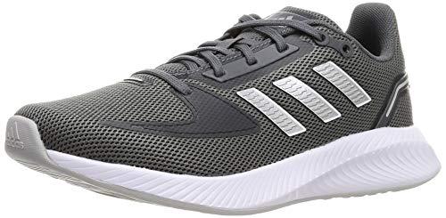 adidas RUNFALCON 2.0, Zapatillas para Correr Mujer, Grey Five Silver Met Grey Two, 40 EU