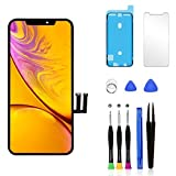 Pavlysh for iPhone 11 Screen Replacement LCD Display Touch Screen digitizer Assembly with Waterproof Frame Adhesive Sticker Screen Protector and Repair Tools for iPhone 11 6.1 inch…