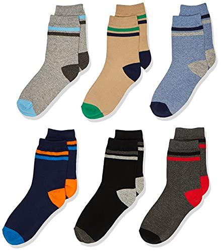 Jefferies Socks - Calcetines para niño (6 unidades), varios tamaños, M