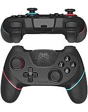 JOYSKY Mando para Nintendo Switch Bluetooth Controlador Joystick multifunción para Juegos de Switch (Rojo/Azul)