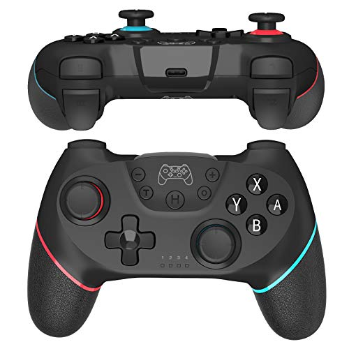JOYSKY Wireless Controller Bluetooth Gamepad kompatibel mit Switch, Remote Controller Gamepad mit Dual Shock Joysticks und 6-Achsen Gyroskop Turbo Funktionen