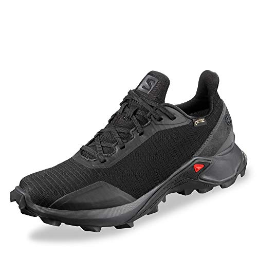 Salomon ALPHACROSS GTX W, Zapatillas de Trail Running para Mujer, Negro (Black/Ebony/Black), 41 1/3 EU