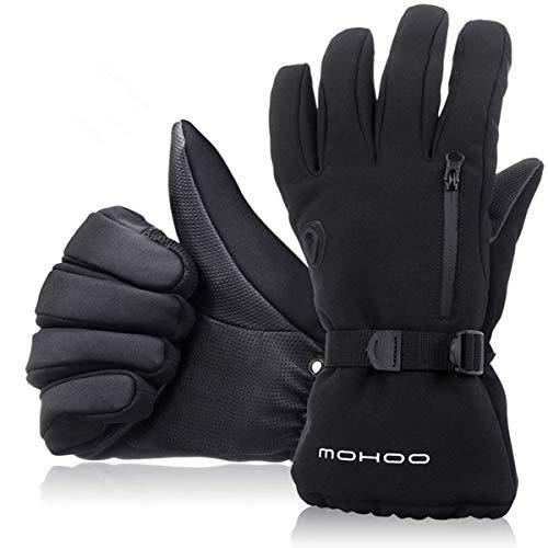 MOHOO Winterhandschuhe Herren Damen Skihandschuhe Wasserdicht Fahrradhandschuhe,Touchscreen Sporthandschuhe Thermische, Warm und Atmungsaktiv für Schnee Outdoor Motorradfahren Radfahren Wandern