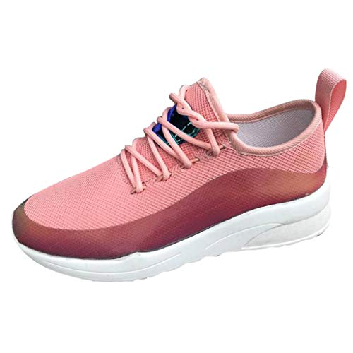 HoSayLike Scarpe da Ginnastica Donna Sneaker Traspiranti Sandali Donna Comodi Scarpe Sportive Fitness per Corsa Yoga Trekking Passeggiate (Rosa, Numeric_39)
