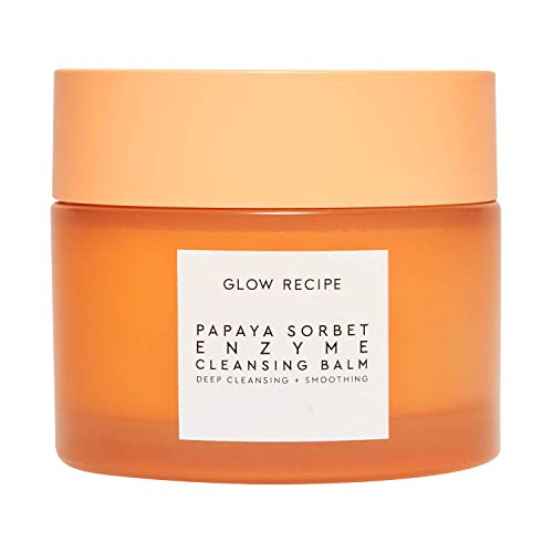 Glow Recipe Papaya Cleansing Balm - Exfoliating Enzyme Cleansing Balm + Makeup Remover for Clean, Soft, Glowing Skin with Papaya Seed Oil + Blueberry Extract (100ml / 3.4 fl oz)