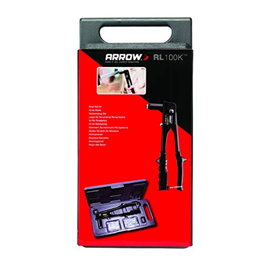 Arrow Fastener RL100K Rivet Tool Kit, Uses 1/8-Inch and 3/16-Inch Rivets, Includes 50 Rivets
