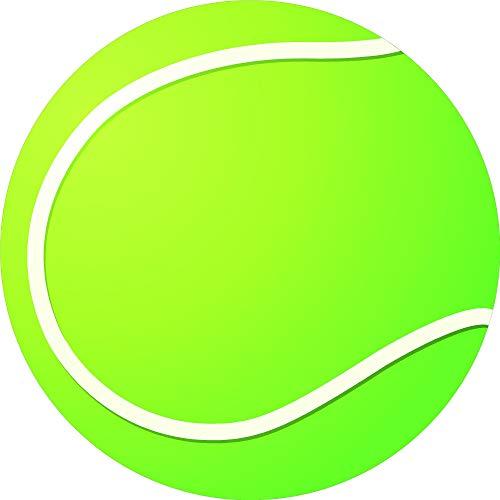 Kleberio Aufkleber wetterfest Tennisball 19 cm Sticker Auto Motorrad Carravan
