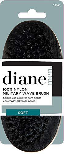 Diane 100% Nylon Softy Palm Military Style Men's Hair and Beard Brush