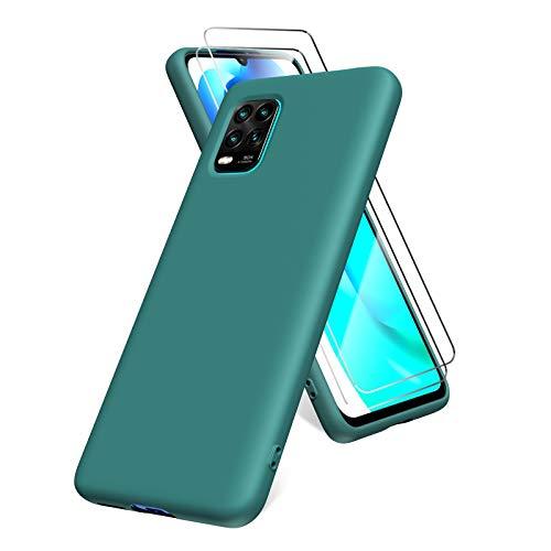 Oududianzi Funda para Xiaomi Mi 10 Lite 5G, Protector Pantalla Cristal Templado,...