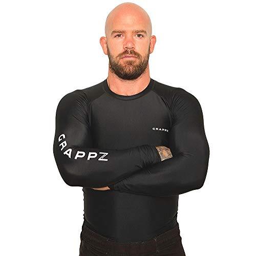 Long Sleeve Compression Shirt/Rash Guard, Most Durable MMA, BJJ/Jiu Jitsu, No Gi,...