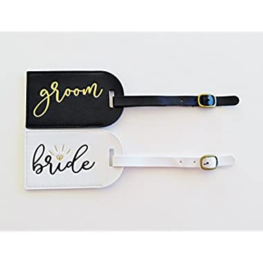 Bride and Groom Luggage Tags Mr and Mrs Luggage Tags Honeymoon Luggage Tags Bridal Shower Gift Wedding Gift for Couple Mr and Mrs Gift