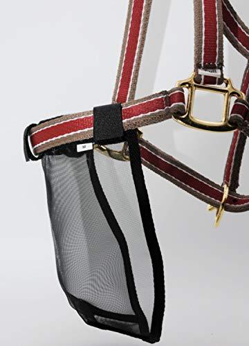 AMKA Pferde Nasenschutz Fliegenschutz Nasennetz Nüsternsschutz Flycover schwarz