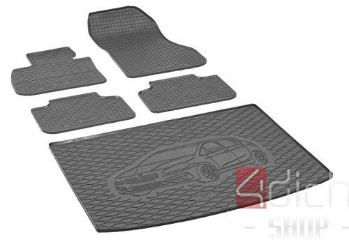 Passgenaue Kofferraumwanne und Gummifußmatten geeignet für BMW 2 Active Tourer ab 2015 + Autoschoner MONTEUR