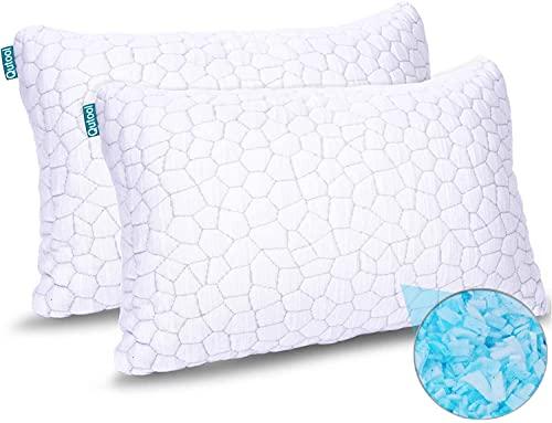 Shredded Memory Foam Pillows for Sleeping Cooling...