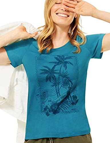 Cecil Damen 316468 T-Shirt, cool Lagoon Blue, S