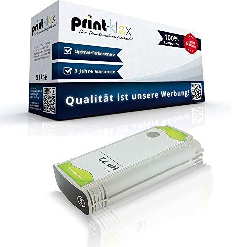 Print-Klex Kompatible Tintenpatrone für HP DesignJet T790PS 44Inch T795 C9403A HP72 HP 72 Matt Schwarz - Easy Line Serie