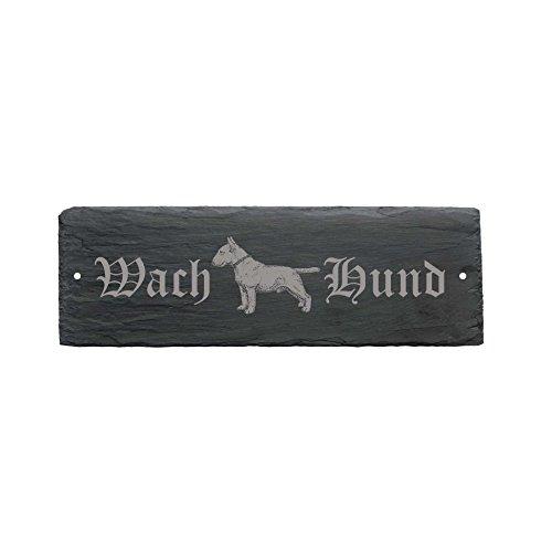 wetterfestes Schild « WACHHUND BULLTERRIER » Türschild Hund 22 x 8 cm - Hund Dog