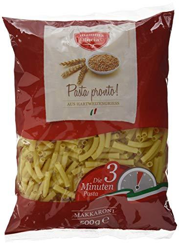 mamma lucia Pasta Pronto Makkaroni - Schnellkochpasta, 10er Pack (10 x 500 g)