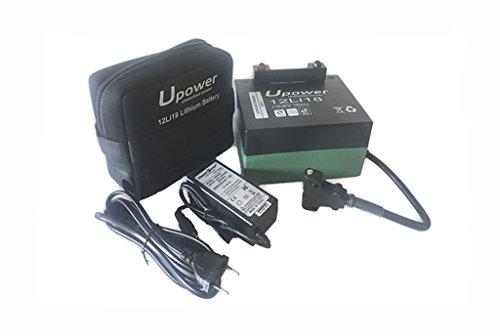 Batería de litio para carro de golf 12v 18Ah Upower 12Li18 con kit de carga