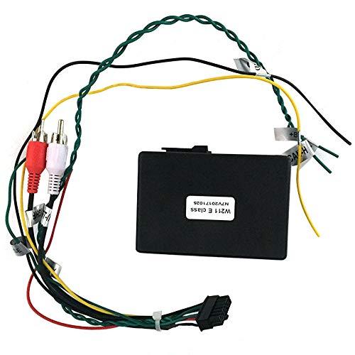 Nrpfell para Mercedes Clase e W211 E200 E220 E230 AUX Adaptador de Amplificador de Caja de Decodificador de Fibra óPtica para Coche 2002-2012