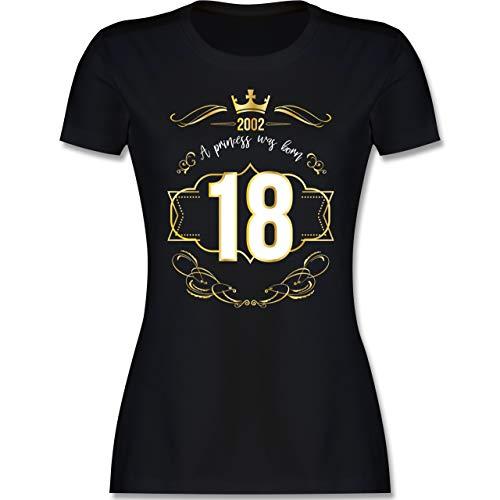 Geburtstag - 18 Geburtstag Prinzessin Mädchen 2002 - M - Schwarz - 18 Geburtstag Shirt Damen - L191 - Tailliertes Tshirt für Damen und Frauen T-Shirt