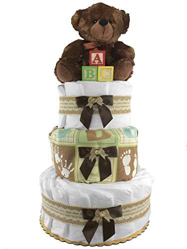 Teddy Bear 3-Tier Diaper Cake...