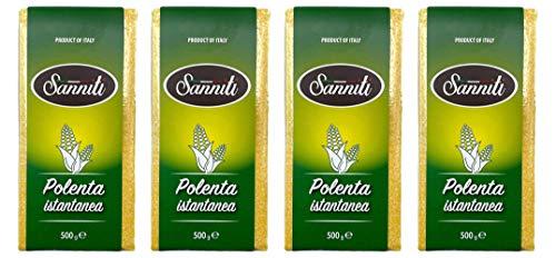 Sanniti Italian Instant Polenta, 17.6 oz (Pack of 4)