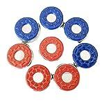 Yihao 2-1/8''(53mm) 2-5/16''(58mm) Shuffleboard Pucks,Set of 8 (red Blue 1)