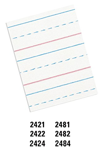 "PACON - PAC2482 Pacon Handwriting Paper, D'Nealian Grades 2&3 / Zaner-Bloser Grade 2, 1/2"" x 1/4"" x 1/4"" Ruled 8"" x 10-1/2"", Ruled Short, 40 Sheets"