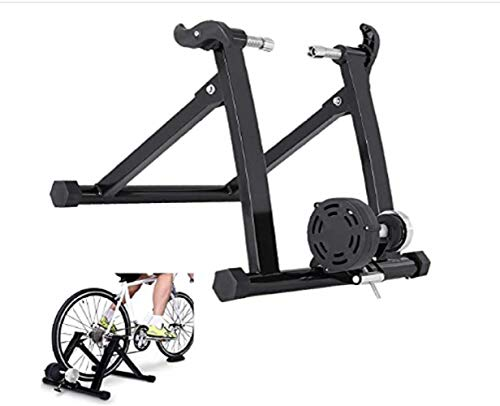 Bike Trainer Stand for Indoor Riding Mountain Road Bike,Exercise Bike Stationary Workout Trainer Stand,Portable Magnetic Bicycle Exercise Training ,Noise Reduction Wheel (For 24—29inch Bicycle)