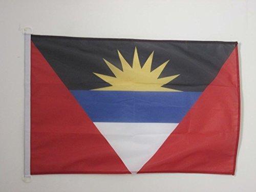 AZ FLAG Bandera de Antigua Y Barbuda 90x60cm Uso Exterior - Bandera ANTIGUANA 60 x 90 cm Anillos