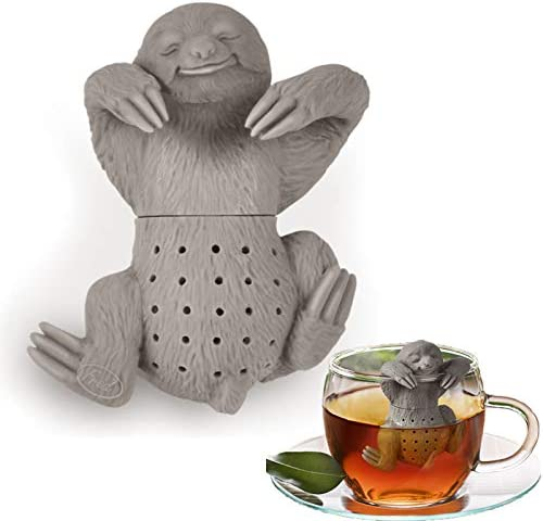 Silicone Tea Strainer Interesting Life Partner Cute Slow Brew Sloth Tea Infuser Filter Brewing product image
