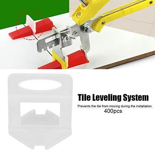 400 clips de nivelación de azulejos reutilizables de 2 mm, kit de herramientas para separar suelos y paredes