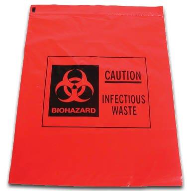 National uniform free shipping Biohazard Waste price Bags ziploc 1 of 12 Gallon Pack