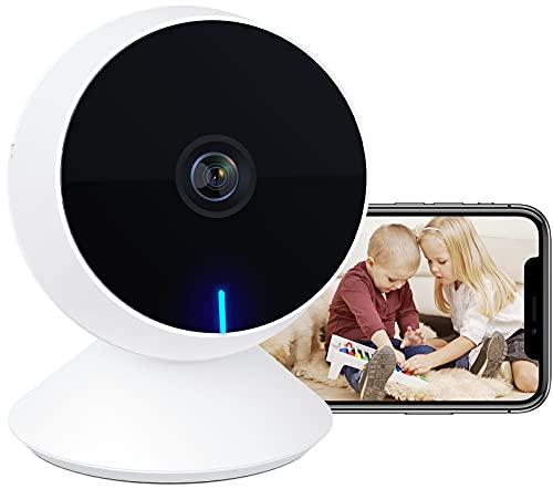 Laxihub Babykamera WLAN Überwachungskamera Innen Babyphone mit Kamera, IP Kamera 1080P FHD Nachtsicht M1 Haustier Sicherheitskamera, 2-Wege-Audio, Bewegungs- und Geräuscherkennung, 1PC