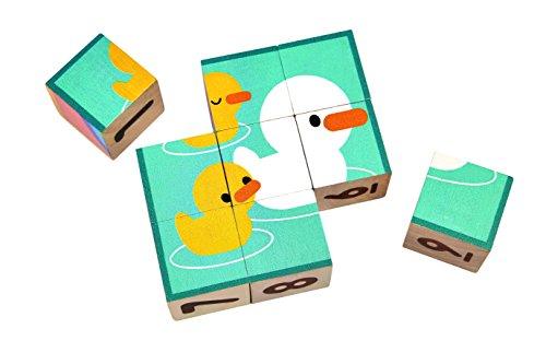 PlanToys- Puzzle Cubes, PT5430, Wood