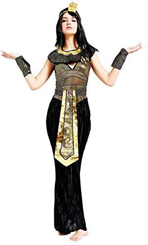 XYFW Costume da Re Egiziano da Uomo Il Principe D'egitto Faraone Copricapo Bracciali Regina Halloween Carnevale Vestito Programmi di Prestazione Piramidi Egiziane,B