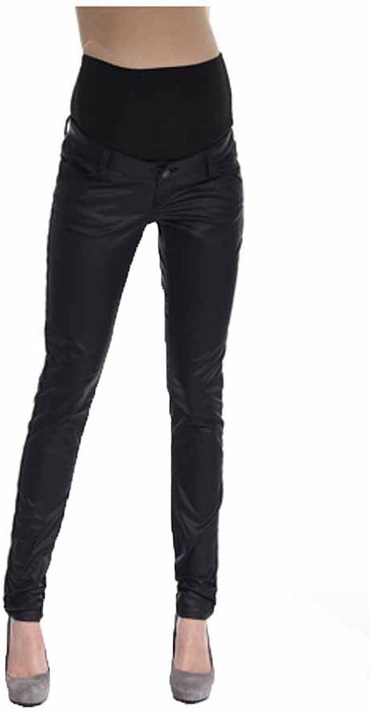Queen Mum Women's Faux Leather Coated Black Sweat
